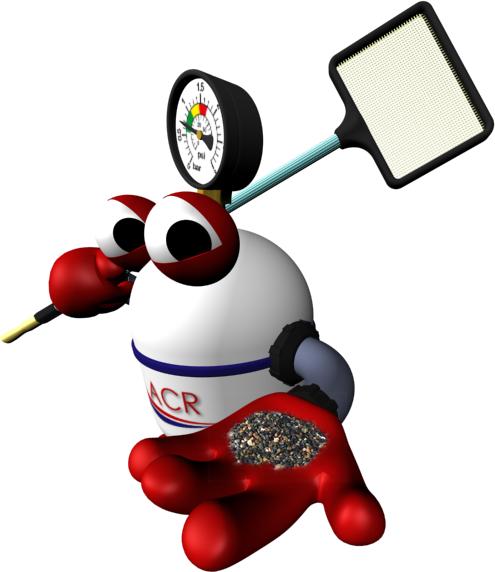 Mascota ACR mostrando PebbleTec